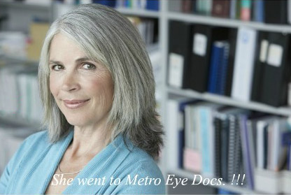 Woman After Visiting Metro Eye Docs.